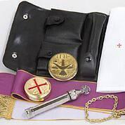 "Picture of Koleys K138 10 Host Cap Liturgy Set Genuine Leather Case 3"" x 6"""