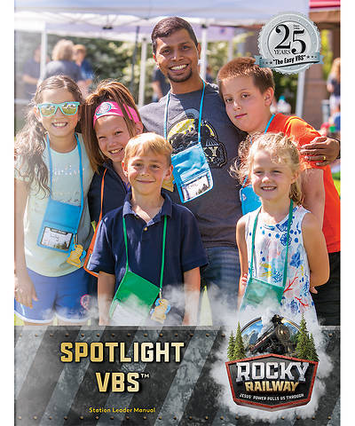 Picture of Vacation Bible School (VBS) 2020 Rocky Railway Spotlight VBS Leader Manual