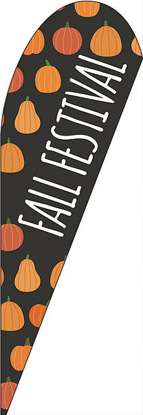 Picture of Fall Festival Pumkins Teardrop Flag Banner