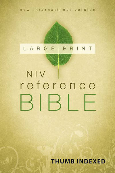 NIV Reference Bible, Large Print Indexed