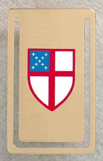 Gold-Plated Brass Bookmark with Episcopal Shield
