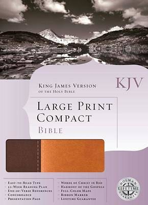 KJV Large Print Compact Bible (Dark Brown/Light Brown Duotone Simulated Leather)