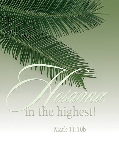 Hosanna Palm Sunday Bulletin Large (Pkg of 50)