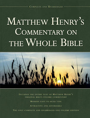 Matthew Henrys Commentary on Thewhole Bible