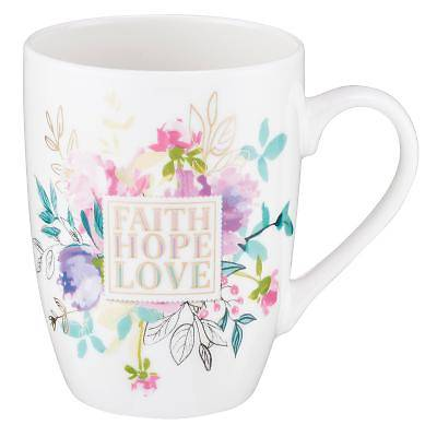 Picture of Value Mug Faith Hope Love Floral