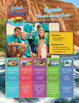 Vacation Bible School (VBS) 2018 Splash Canyon Snack Guide