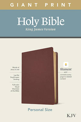 Picture of KJV Personal Size Giant Print Bible, Filament Enabled Edition (Genuine Leather, Burgundy)