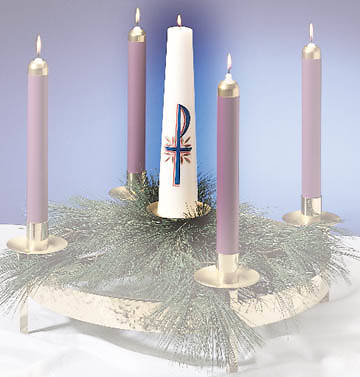 "Center Christ Candle -14"" x 3"""
