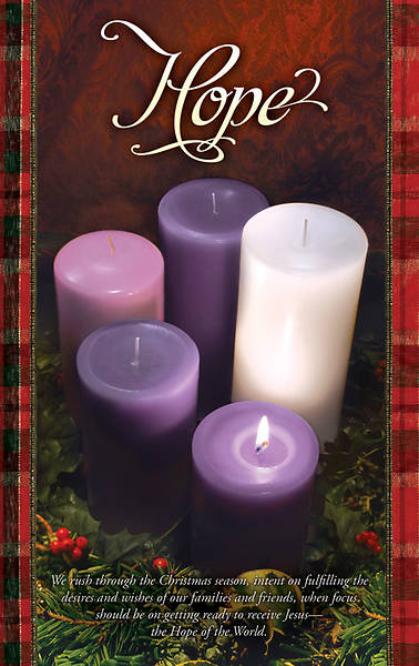 Advent Week 1/Hope Bulletin, Regular (Package of 100)