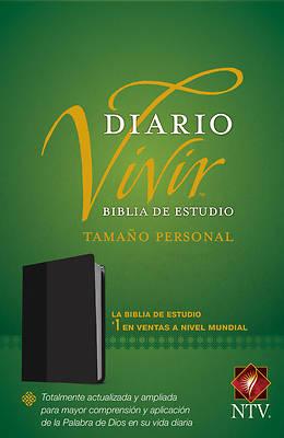 Picture of Biblia de Estudio del Diario Vivir Ntv, Tamaño Personal (Letra Roja, Sentipiel, Negro)