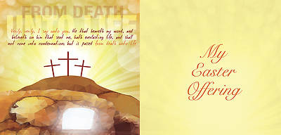 From Death Unto Life Easter Offering Envelope