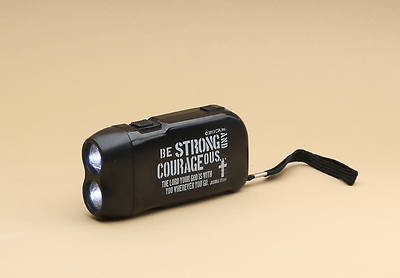 Be Strong & Courageous Handpump Flashlight