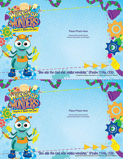 Vacation Bible School (VBS) 2014 Workshop of Wonders Follow-Up Photo Frames (Pkg of 50)