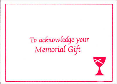 DOC Memorial Gift Acknowledgment Certificate