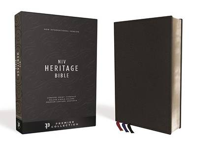 Picture of NIV, Heritage Bible, Deluxe Single-Column, Premium Leather, Black Sterling Edition, Comfort Print