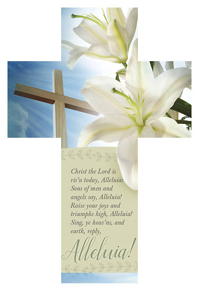 Picture of Christ the Lord is Risen Today Cross-Shape Bible Marker