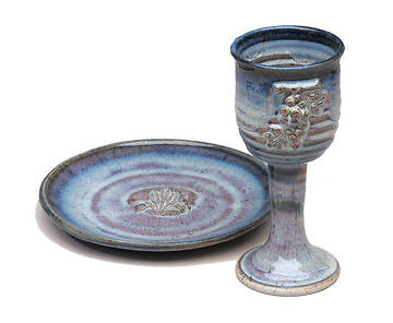 Porcelain Chalice and Paten Set