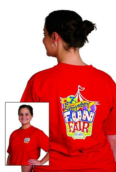 Vacation Bible School 2013 Everywhere Fun Fair Leader T-shirt Size Small VBS