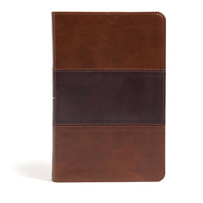 Picture of CSB Large Print Personal Size Reference Bible, Saddle Brown Leathertouch