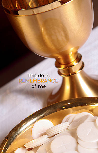 Picture of In Remembrance of Me Communion Regular Size Bulletin