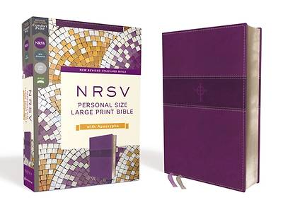 Picture of Nrsv, Personal Size Large Print Bible with Apocrypha, Leathersoft, Purple, Comfort Print
