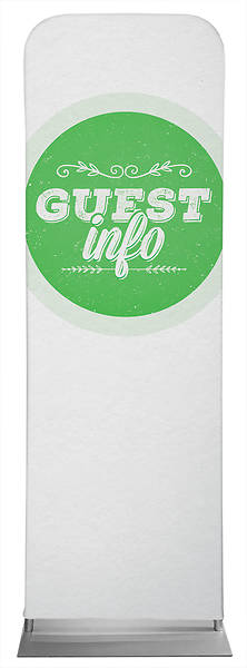 Picture of Guest Info Green Circle Sleeve Banner