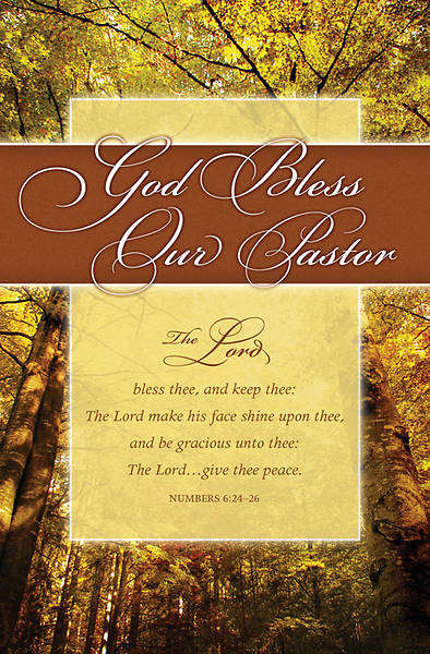 God Bless Our Pastor/Pastor Appreciation Bulletin, Regular (Package of 100)