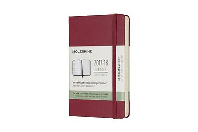 Moleskine 18 Month Weekly Planner, Pocket, Berry Rose, Hard Cover (3.5 X 5.5)
