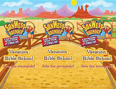 Gospel Light Vacation Bible School 2013 SonWest RoundUp Doorknob Hanger (pkg 48)