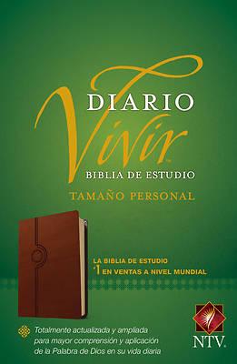 Picture of Biblia de Estudio del Diario Vivir Ntv, Tamaño Personal (Letra Roja, Sentipiel, Café Claro)