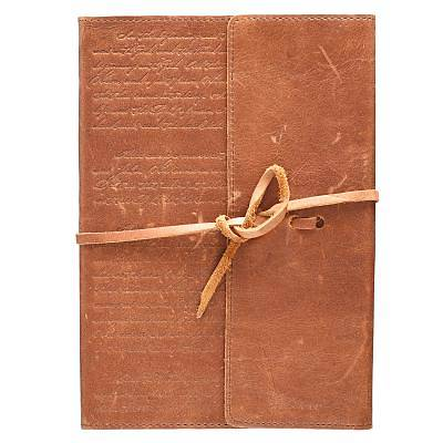 Picture of Journals Classic Full Grain Genuine Leather W/Wrap Brown