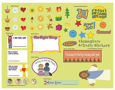 Picture of FaithWeaver Friends Elementary Activity Stickers PK5 Winter 2020-2021