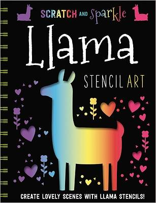 Picture of Llamas Stencil Art