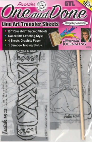 One and Done Bible Journaling Line Art Transfer Sheets