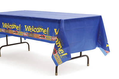 Vacation Bible School 2013 Everywhere Fun Fair Tablecloth VBS