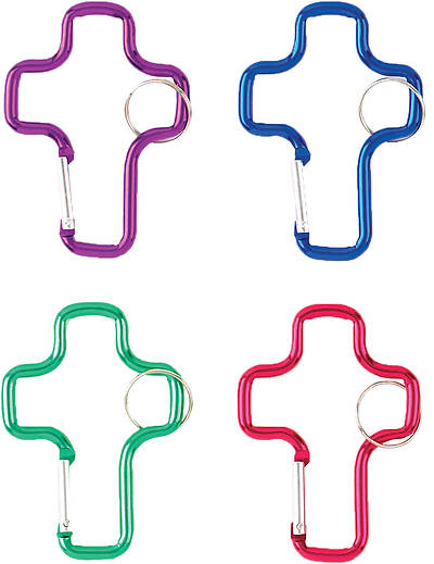 Vacation Bible School (VBS) 2016 Barn Cross Carabiner (Pack of 12)