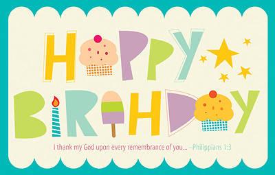 Picture of Happy Birthday Postcard Postcard