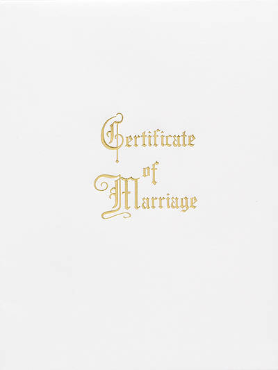 Traditional Steel-Engraved Marriage Certificate