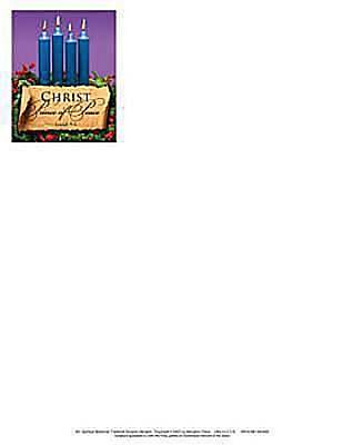 Advent Blue Letterhead 2011 (Package of 50)