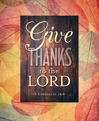 Picture of Give Thanks to the Lord Thanksgiving Bulletin, Large (Pkg of 50)