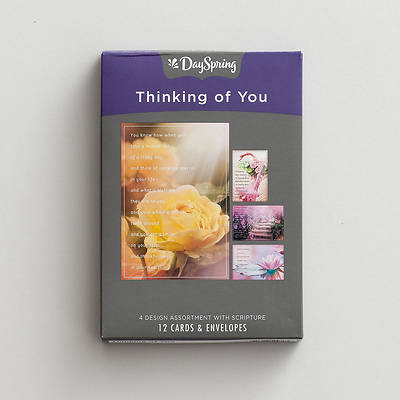 Thinking Of You -  Blessings On Your Day Boxed Cards Assorted  (Box 12)