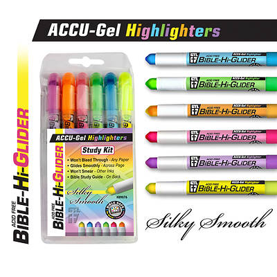 Accu-Gel Bible Highliter Study Kit (Set of 6)