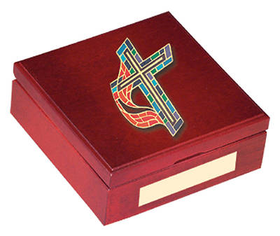 United Methodist Cross Keepsake Box