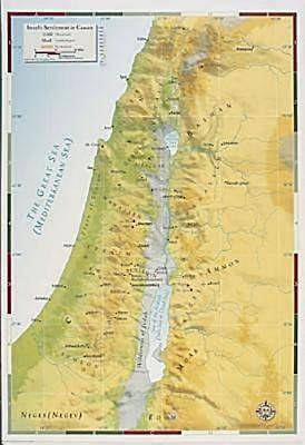 Abingdon Bible Land Map--Israels Settlement in Canaan