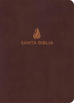 Picture of Rvr 1960 Biblia Compacta Letra Grande Marron, Piel Fabricada Con Indice