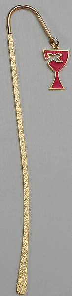 Gold Hook Bookmark 5 1/4