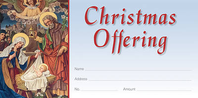 Picture of The Nativity Old Master Art Christmas Offering Envelope
