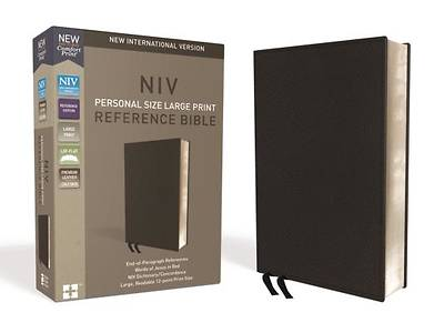 Picture of NIV, Personal Size Reference Bible, Large Print, Premium Leather, Black, Red Letter Edition, Comfort Print