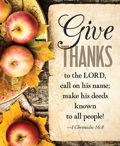 Picture of Give Thanks Apples Thanksgiving Bulletin Large (Pkg of 50)