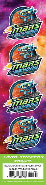 Picture of Vacation Bible School (VBS) To Mars and Beyond Logo Stickers (Pkg of 24)